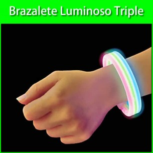 Brazalete luminoso triple