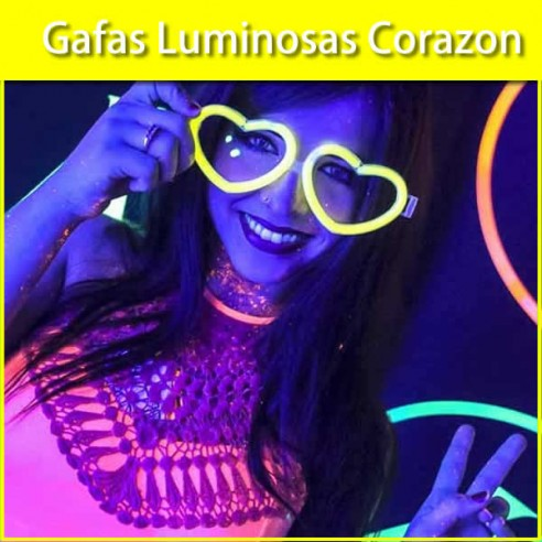 Gafas Luminosas Corazon