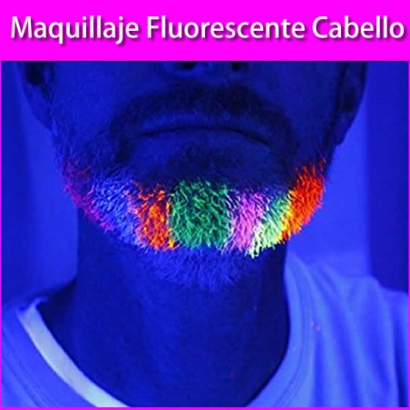 Gel fluorescente barba y bigote