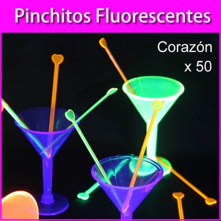 Pinchitos fluorescentes neón