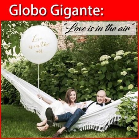 Globo gigante Love is in the air