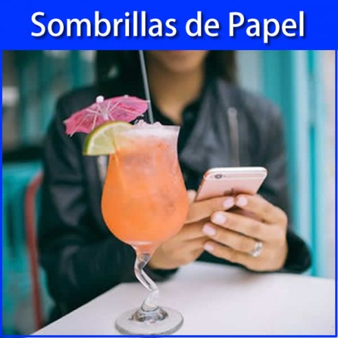 Sombrillas de papel