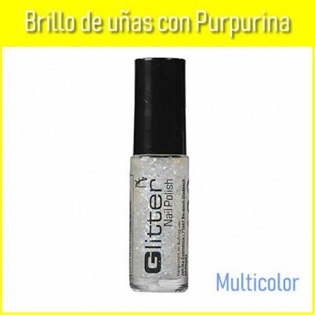 Brillo uñas purpurina multicolor