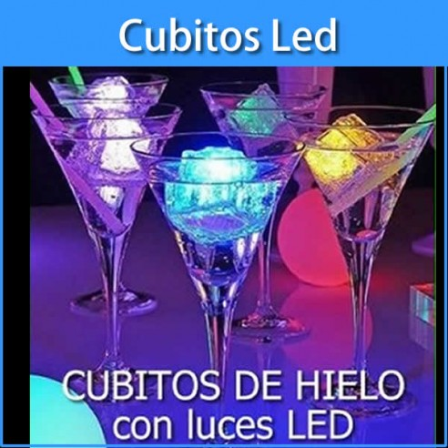 Cubitos de hielo luminosos led