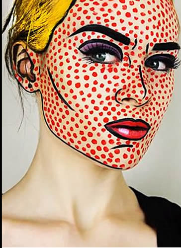 Ideas Maquillaje Lichtenstein